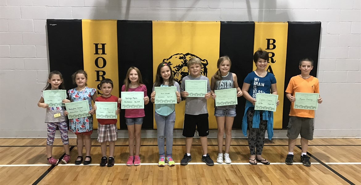 August Leaders of the Month