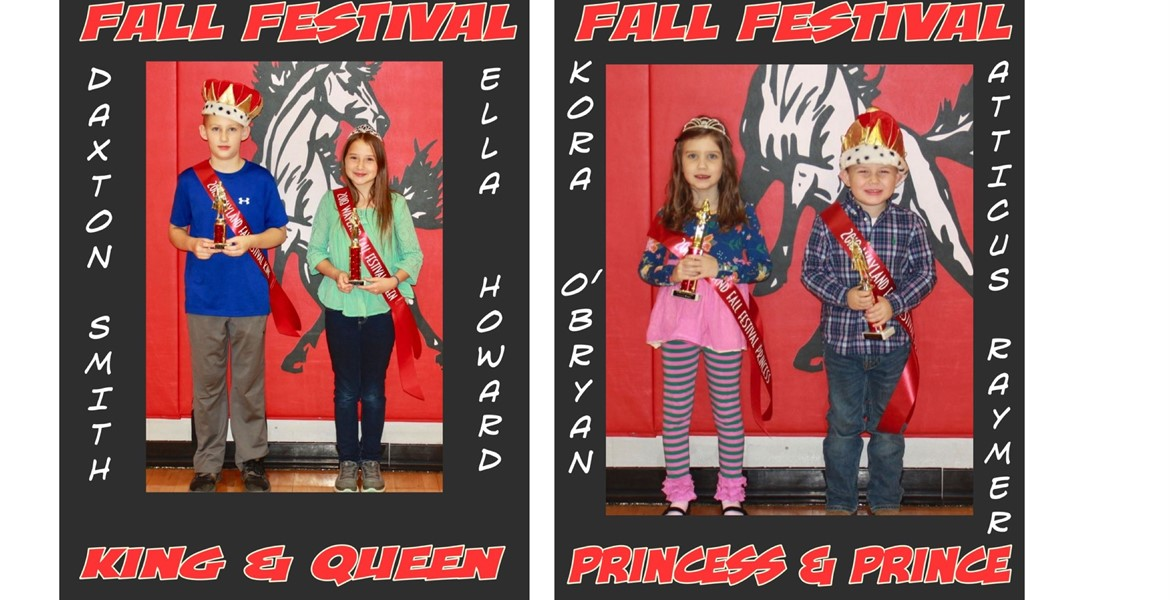 Fall Festival King/Queen and Prince/Princess
