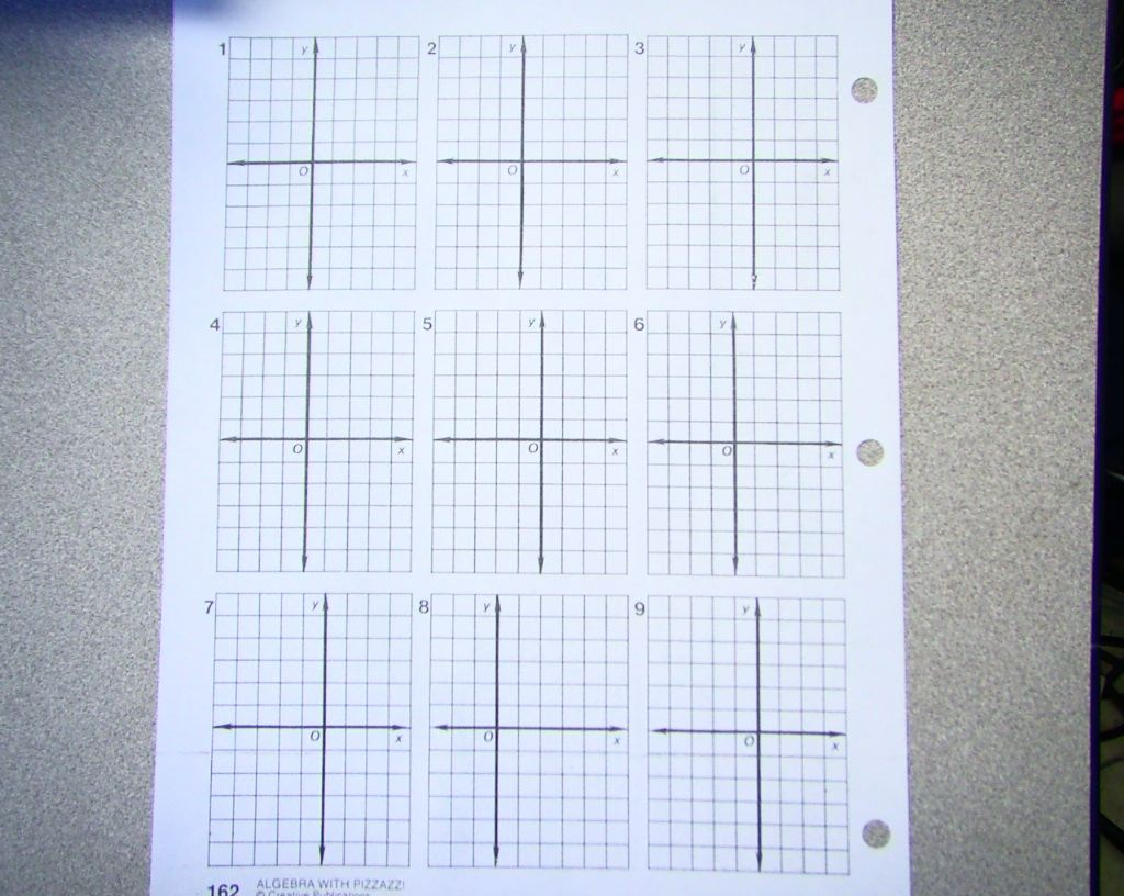 worksheet Algebra Graph Paper ohio county middle school graph paper for pizzazz worksheet